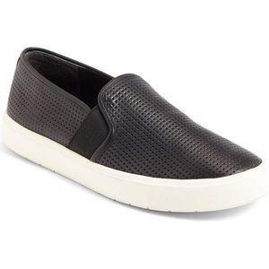 Vince Blair slip on sneaker perf black leather